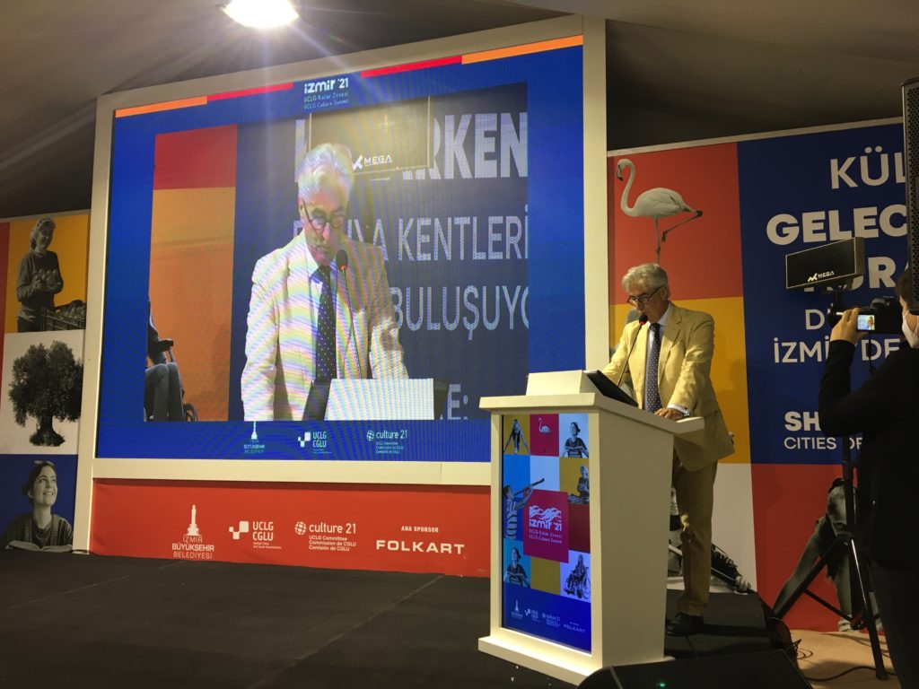 IFLA Secretary General Gerald Leitner speaking at UCLG Culture Summit