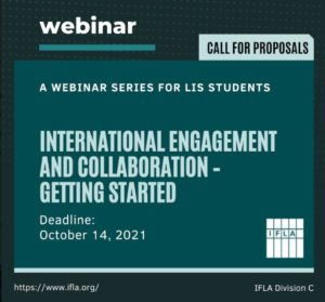 """Call for proposals graphic """"International Engagement and Collaboration – Getting Started"""""""