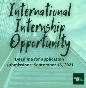 BSLISE Internship Opportunity Due Sept. 15, 2021