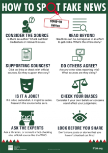 How to spot fake news - COVID19 edition